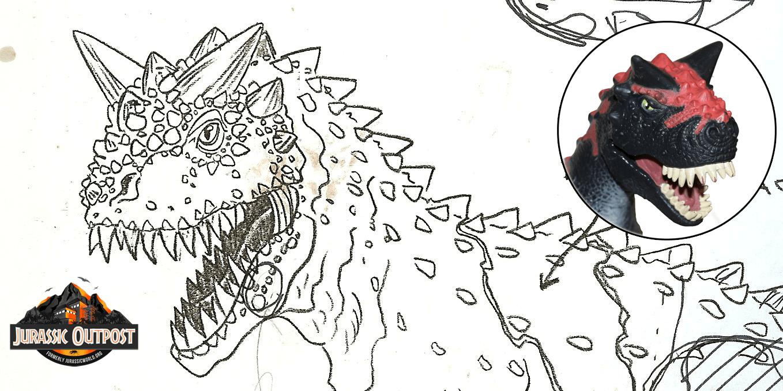 #ThrowbackThursday: Kenner Jurassic Park Carnotaurus Design Sketch (Exclusive)