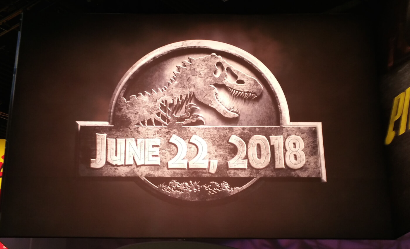 First Jurassic World 2 promo poster at 2016 Las Vegas Licensing Expo