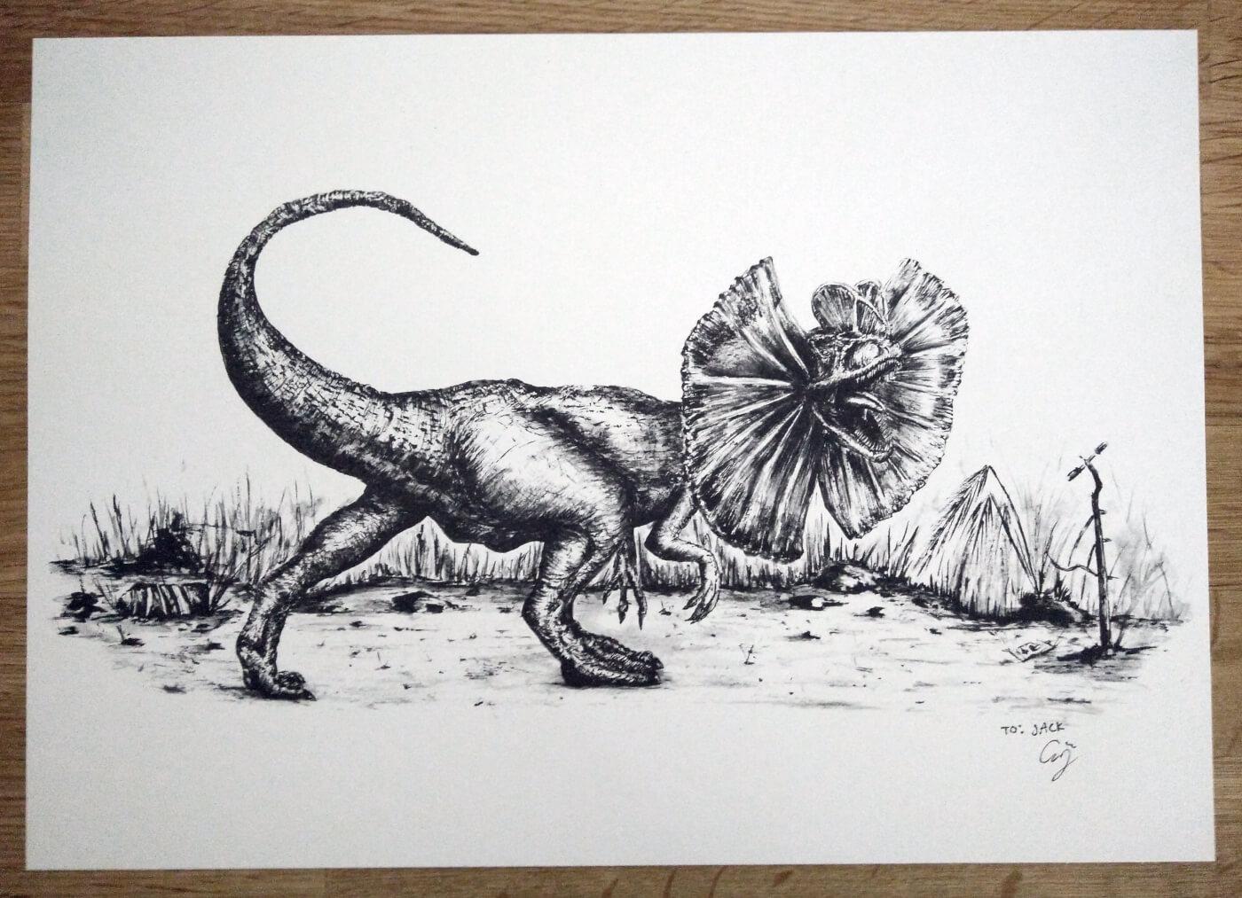Artist Spotlight: Anson Aguirre – Dinosaur and Comic Book Prints