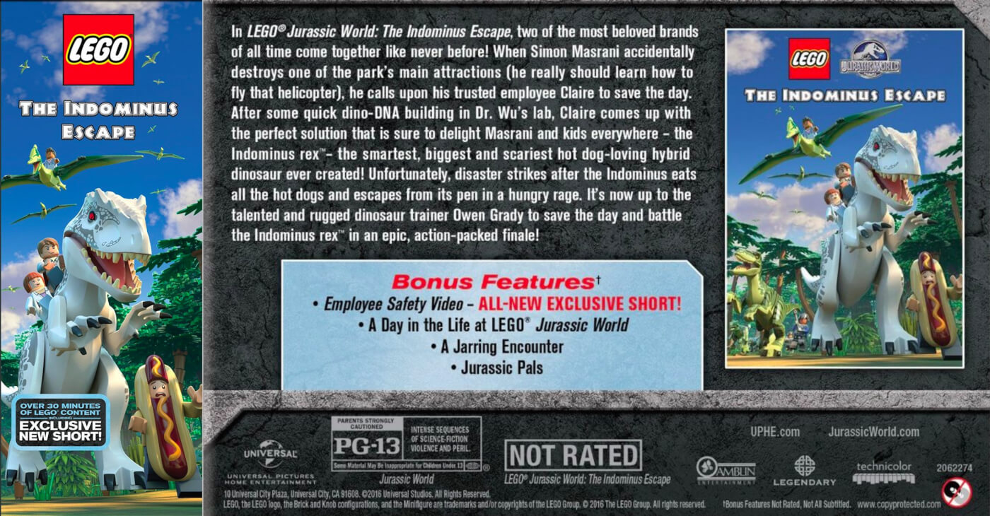 New LEGO Jurassic World DVD film 'The Indominus Escape' releasing in October!
