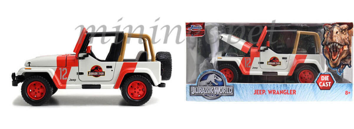 New Jada Toys 1:24th scale Jurassic Park Jeep Wrangler!