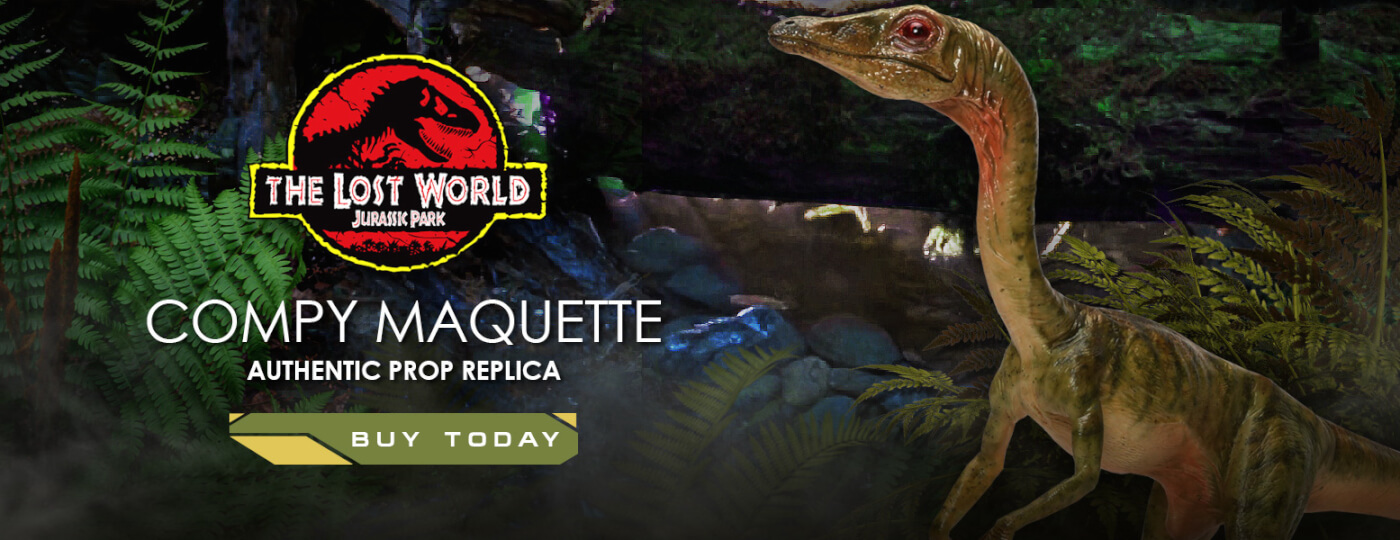 Chronicle Collectibles The Lost World Jurassic Park life sized Compsognathus replica statue