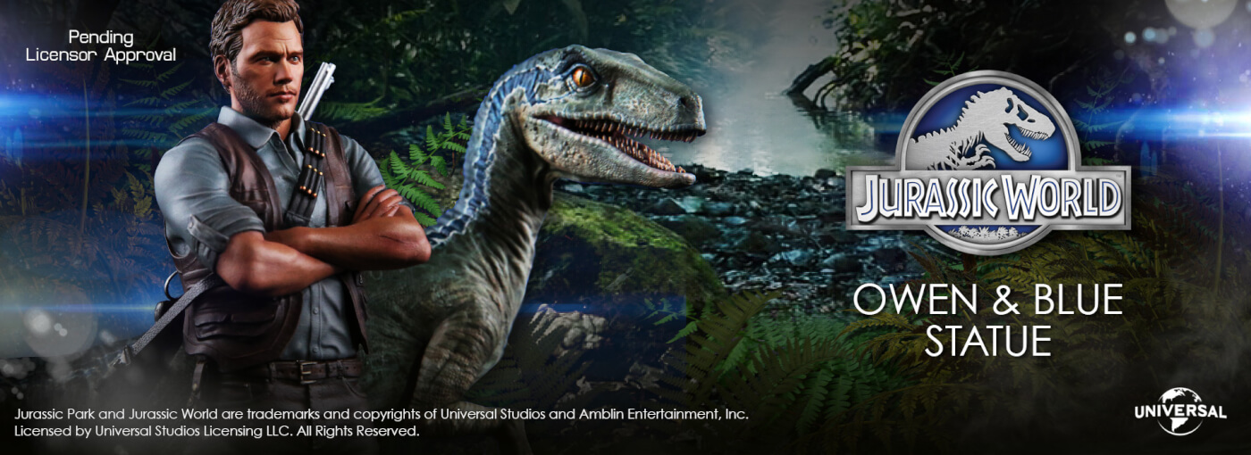 Chronicle Collectibles Jurassic World 1:9 Owen & Blue is Now Available for Pre-Order!