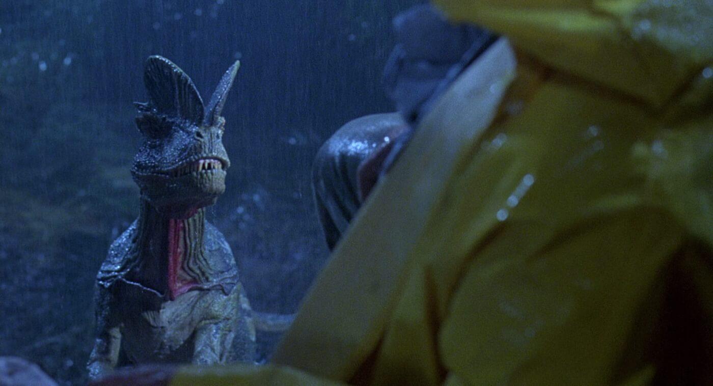 Early Jurassic Park Storyboards Reveal an Alternate Ending for Nedry's Dilophosaurus Attack