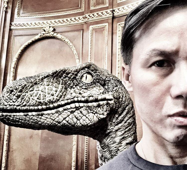 BD Wong teases his return in Jurassic World 2 with Velociraptor selfie from Pinewood Studios!