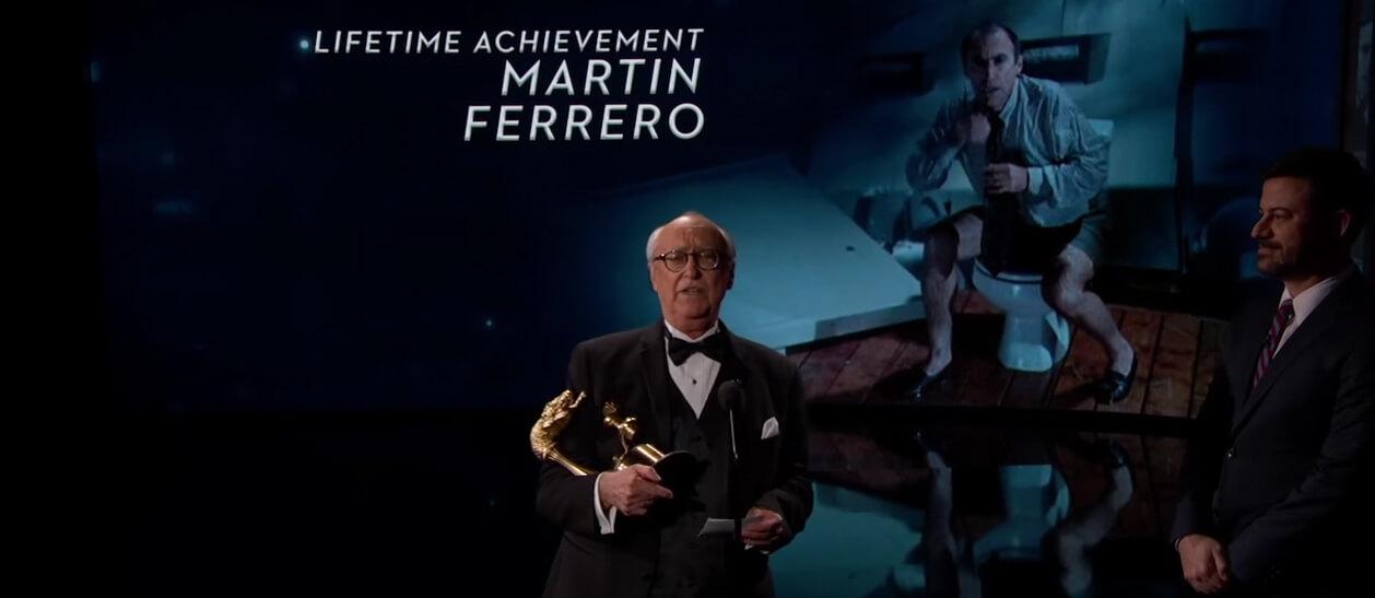 Donald Gennaro Accepts Lifetime Achievement Award on Jimmy Kimmel