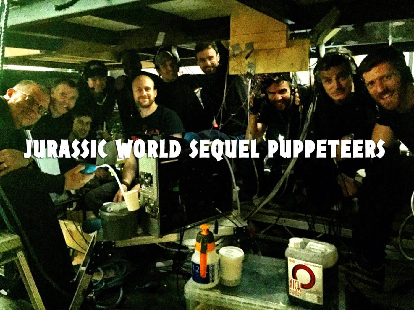 JA Bayona teases animatronics with photo of puppeteer team