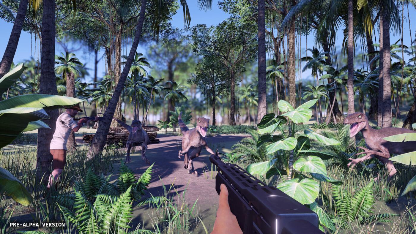 New screenshot of early Jurassic World Survivor build – will it be at e3? #JurassicJune