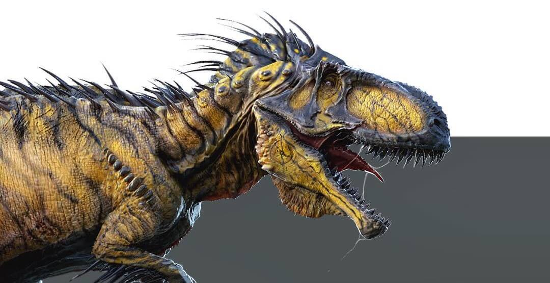 Concept art from Jurassic World reveals another alternate look of the Indominus Rex!