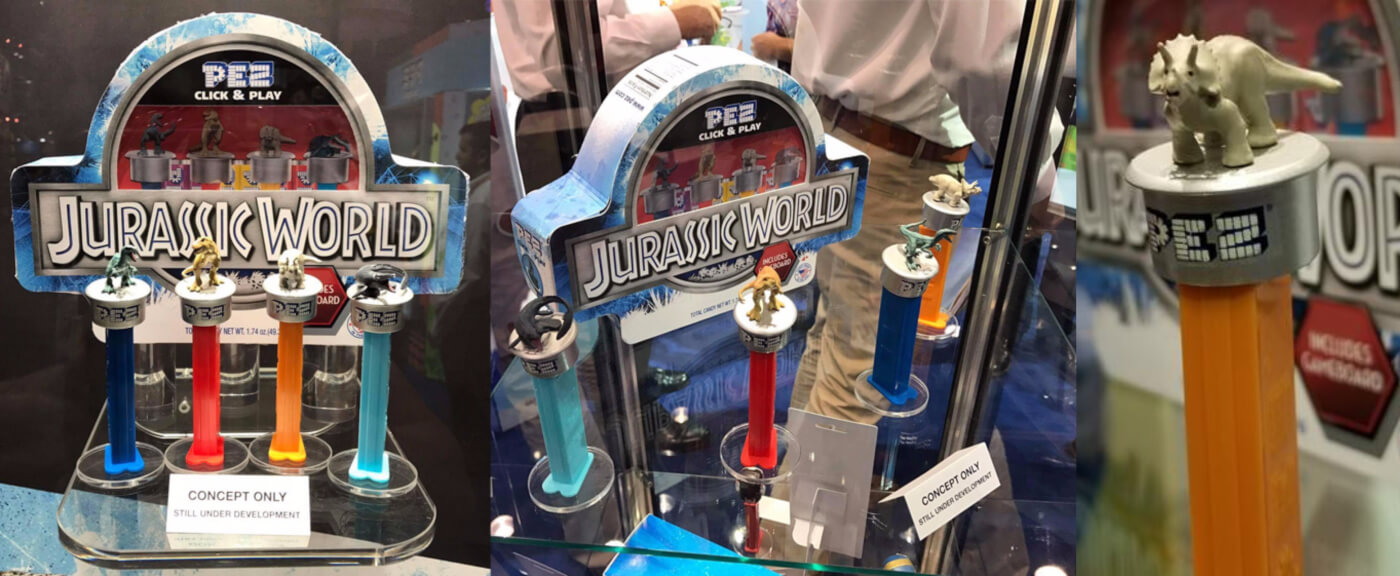 Pez to bring the Jurassic World goods alongside Fallen Kingdom in 2018!