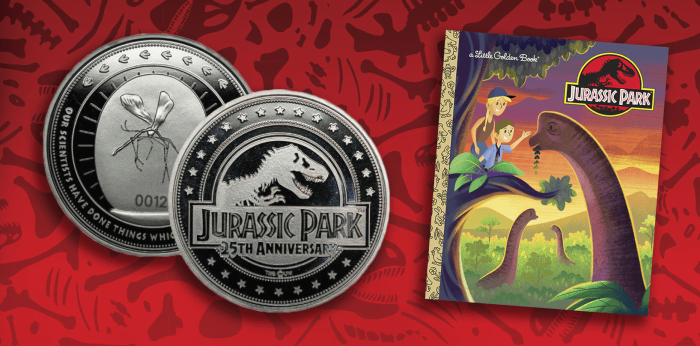 First Jurassic Park 25th Anniversary Merchandise Begins Roaring In!