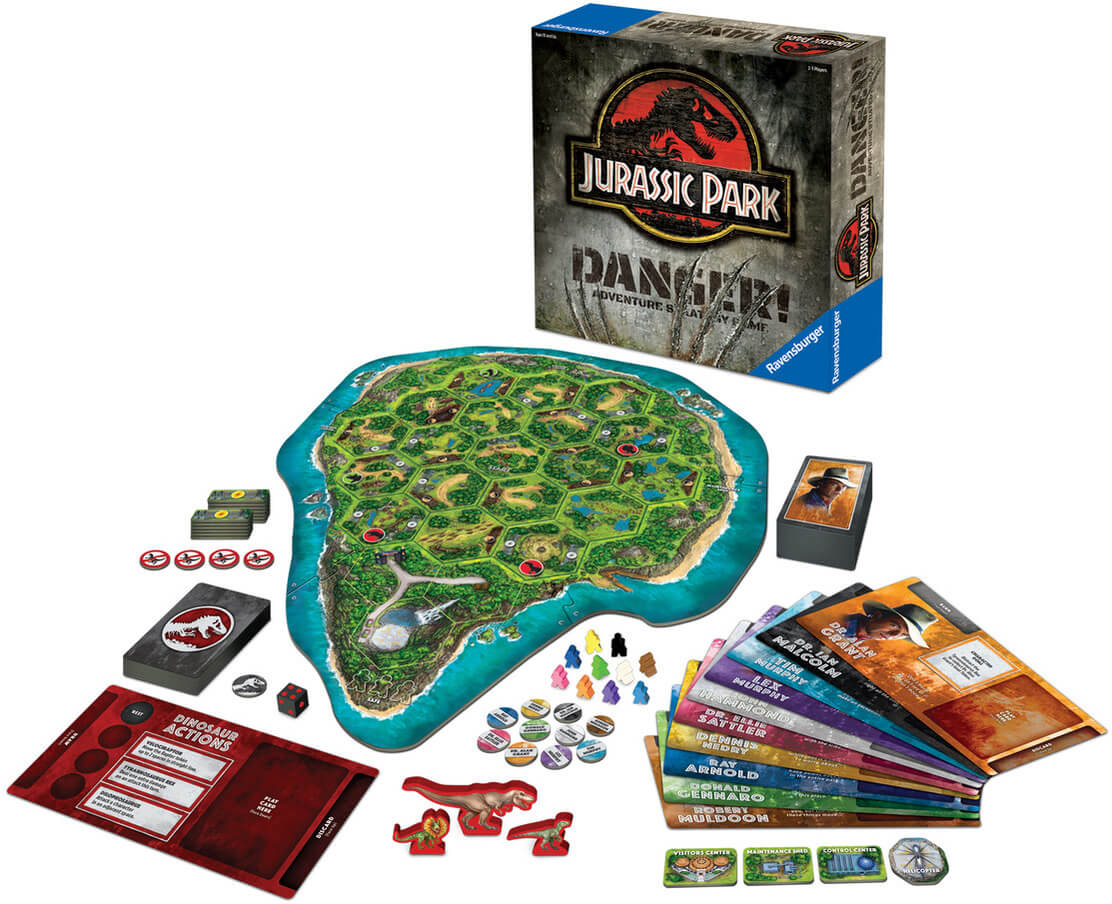 Survive Isla Nublar in 'Jurassic Park: Danger!' a New Board Game Coming May 2018!