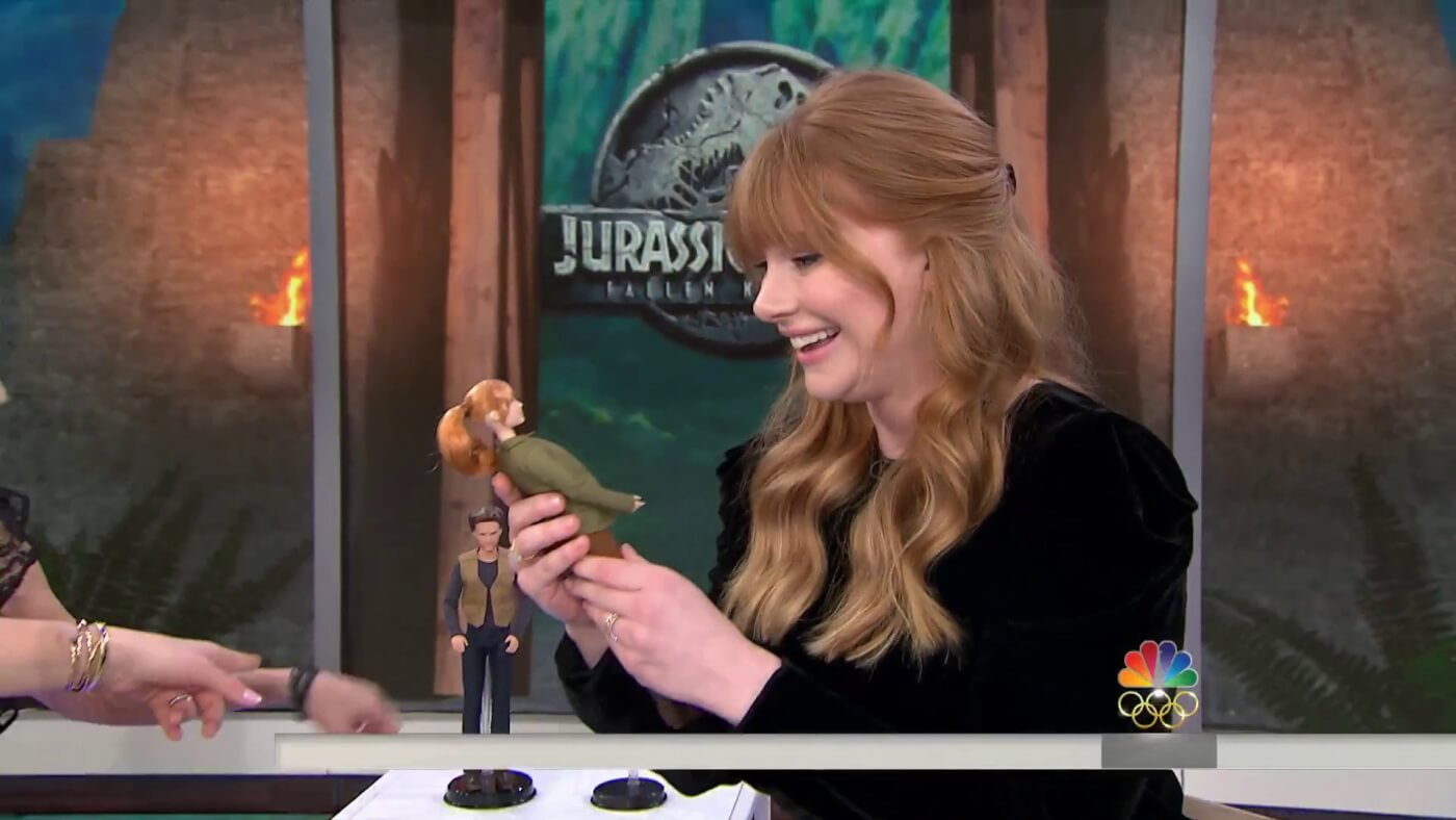 Bryce Dallas Howard Shows Off Fallen Kingdom Toys on the Today Show