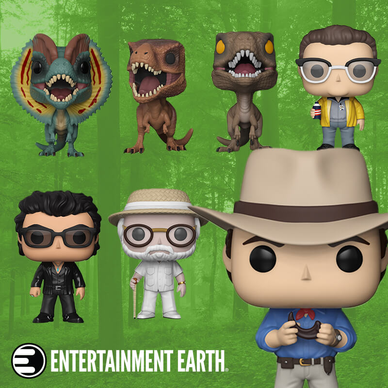 We've Partnered With Entertainment Earth to Giveaway these Jurassic Park Funko Pops – Enter Now!