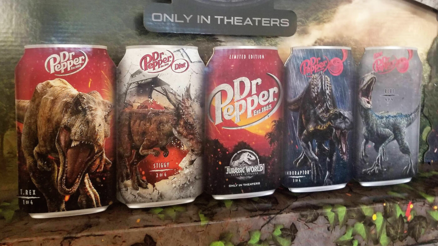 Dr Pepper Unveils Jurassic World Fallen Kingdom Collectible Cans and Reveals Full Indoraptor Design!