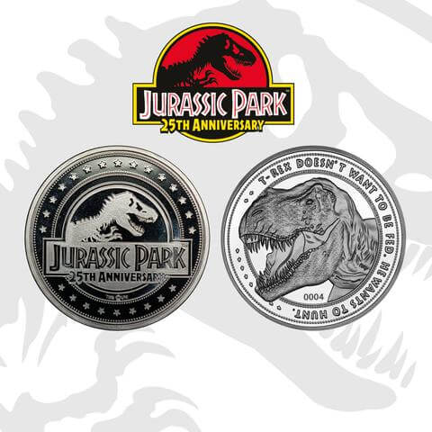 25th Anniversary Jurassic Park Coin From Smart Arts Gallery Now Available For Order