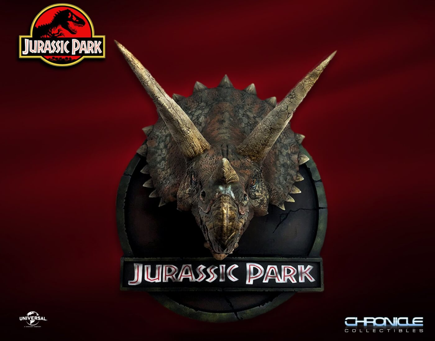 Chronicle Collectibles Announces 1:5 scale Jurassic Park Triceratops Bust is available for Pre-Order