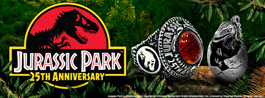 'Jurassic Park' 25th Anniversary Jewelry and Pin Collection