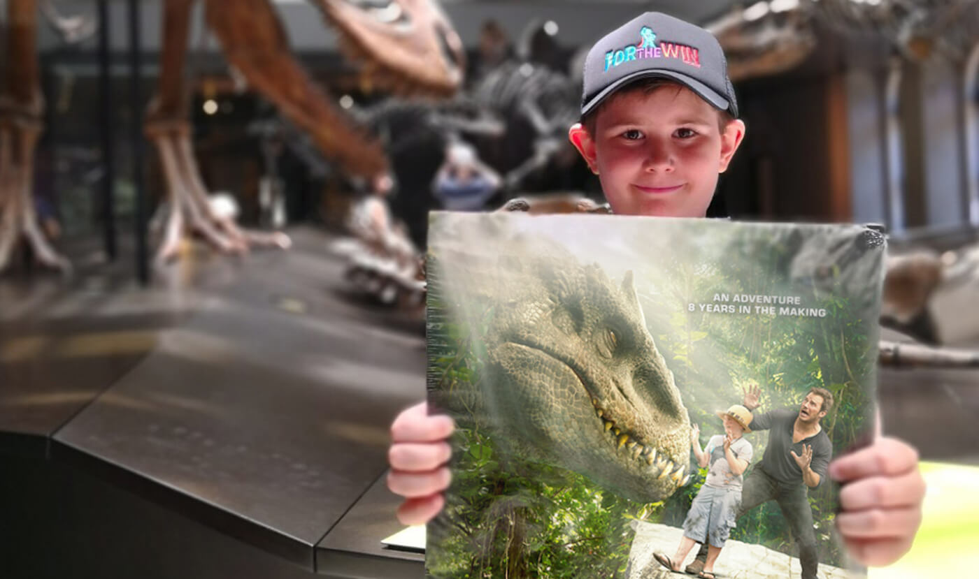 For The Win Project Helps 'Jurassic World' Fan Liam Find A Way!