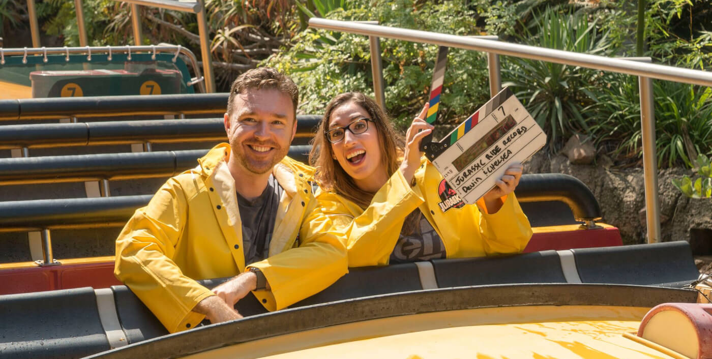 Devin and Chelsea Break 'Jurassic Park: The Ride' Record Before it Closes for Good
