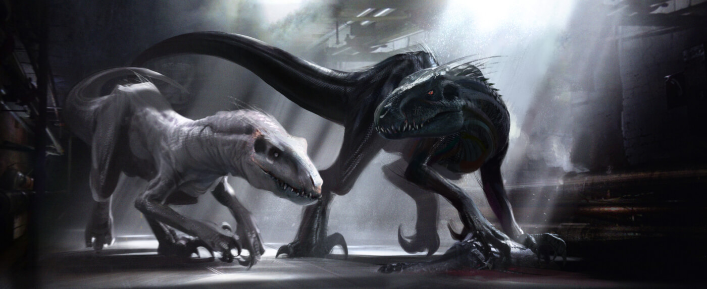 New Concept Art Shows Alternative Opening, Second Indoraptor, the Spinosaurus, and Early Designs in Jurassic World Fallen Kingdom!