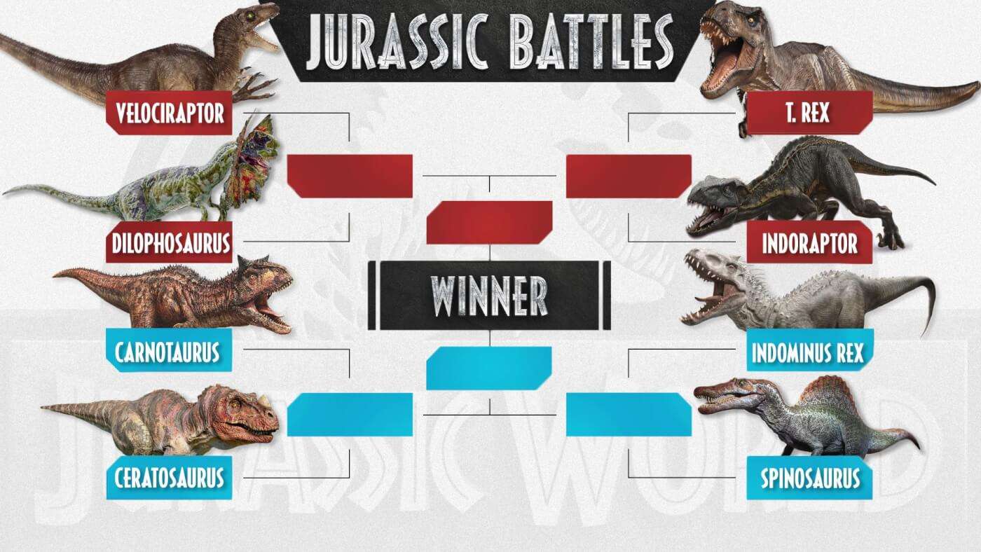Vote Now: Jurassic World Dino Battles 'March Madness'!
