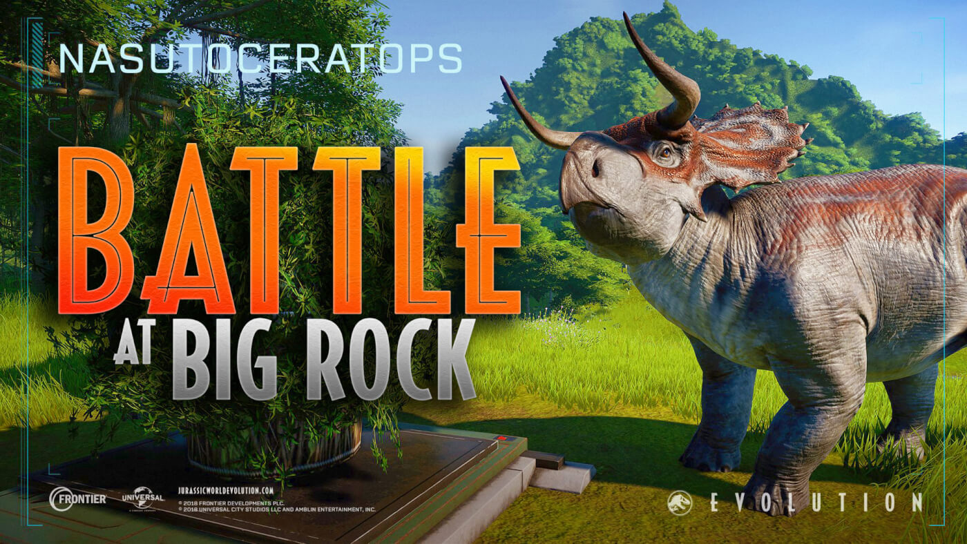 'Battle at Big Rock' Nasutoceratops Added to Jurassic World Evolution!