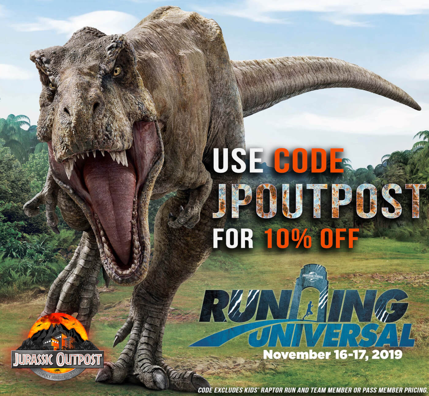The Jurassic World themed 'Running Universal' Expands with 5k, 10k, Kids Run, and More!