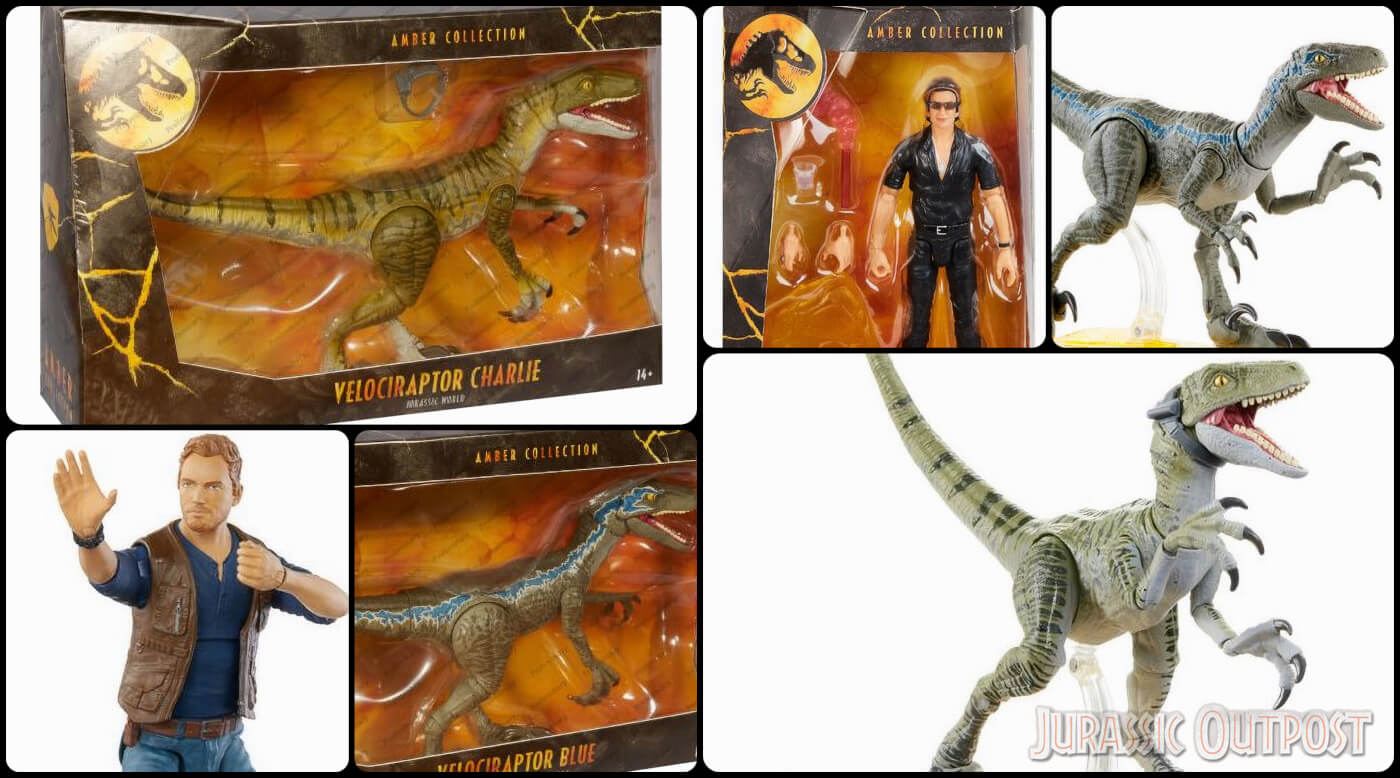 First Look at Mattel's Jurassic World Amber Collection Packaging and Velociraptor Charlie Figure!
