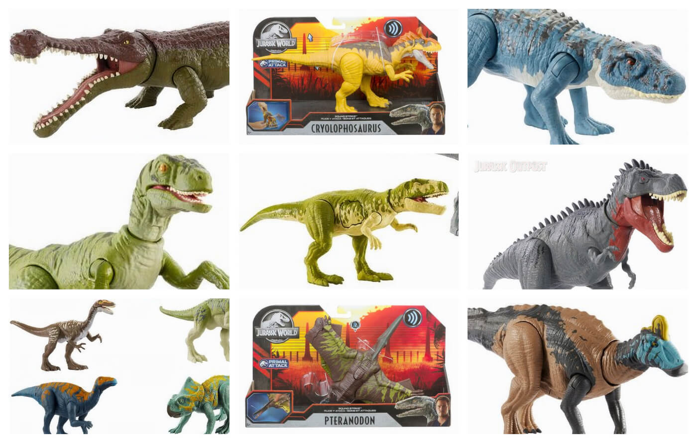Huge Assortment of Mattel's 2020 Jurassic World Primal Attack Toys Revealed!