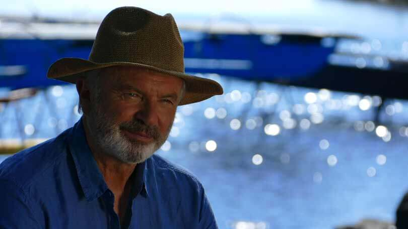 Watch Sam Neill 'Clam up' When Asked If He Will Be in Jurassic World 3