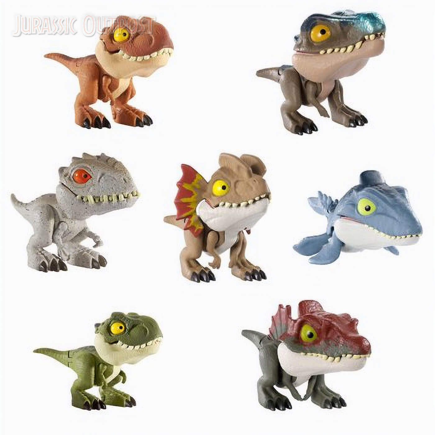 Huge Assortment Of Mattel S 2020 Jurassic World Primal Attack Toys Revealed Jurassic Outpost This set of 12 dinosaurs comes with a book that highlights facts about each type including habitat, diet, size, and more. jurassic outpost
