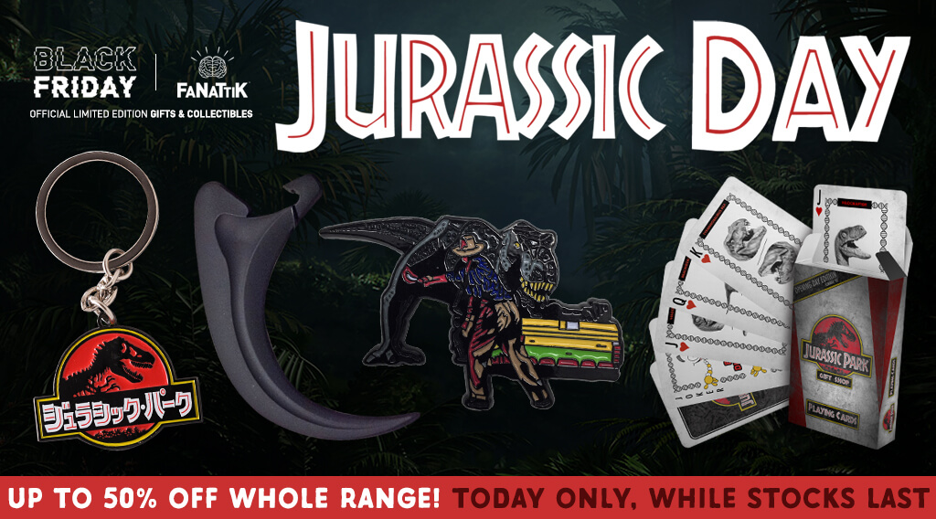 Celebrate 'Jurassic Day' with up to 50% off Jurassic Park Merchandise on Fanattik
