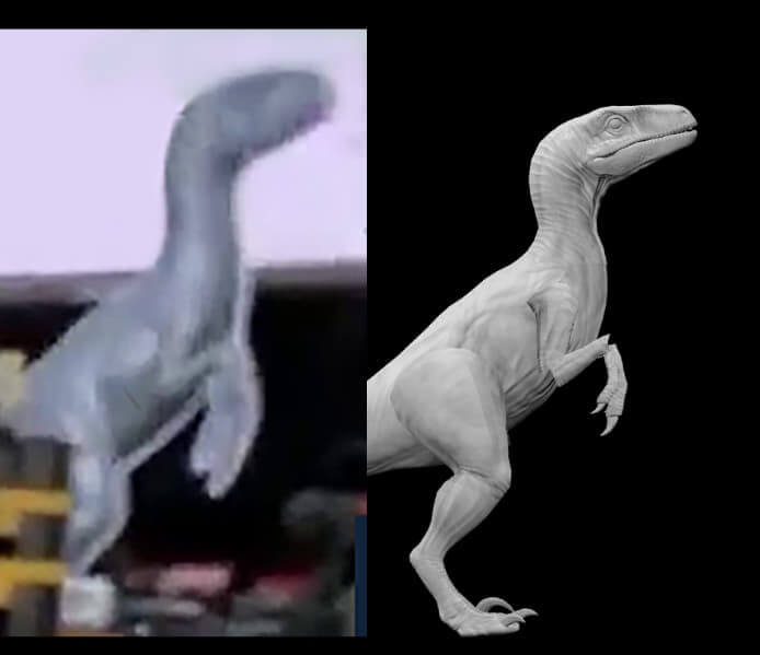 Jurassic World 3 - Blue/New Dino Comparison