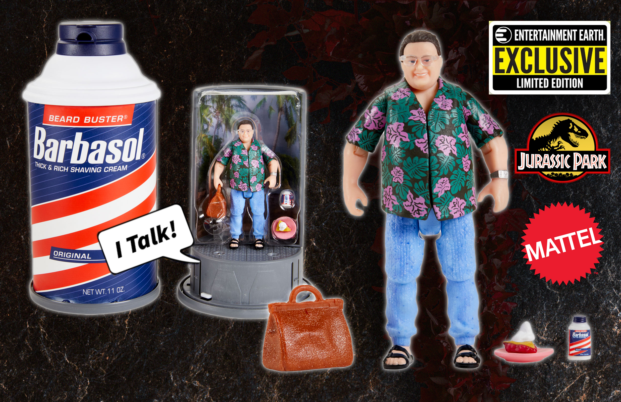 2020 SDCC Exclusive Jurassic Park Dennis Nedry Barbasol Set Announced – Pre-order Before He Goes Extinct!