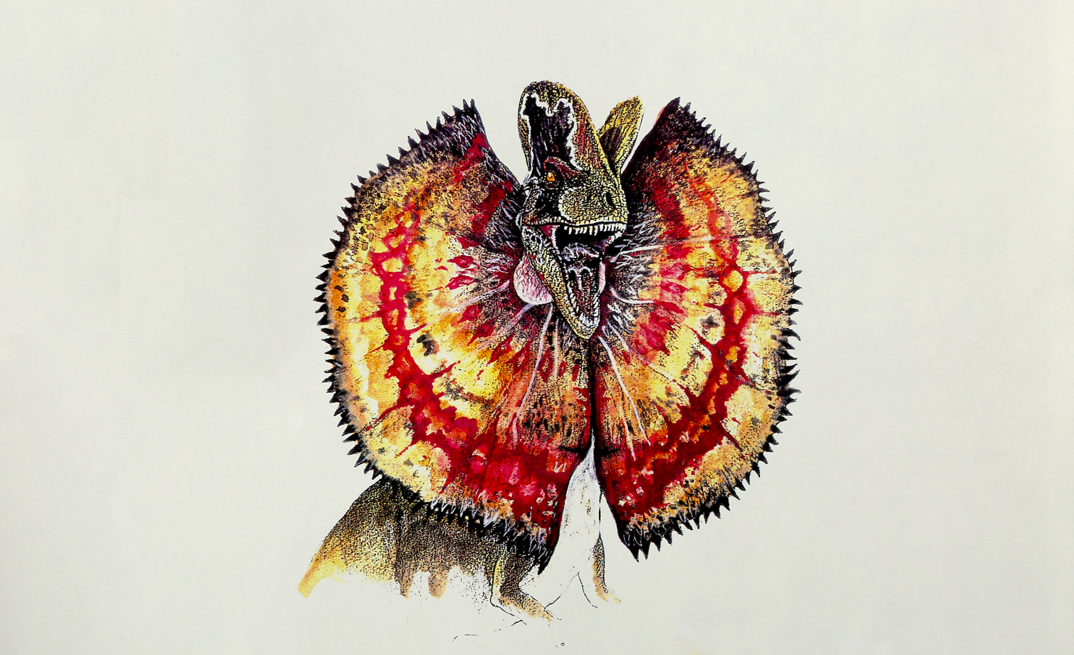 Jurassic Time Interviews Creature Artist Rick Galinson About The Dilophosaurus' Hidden Venom Sacs