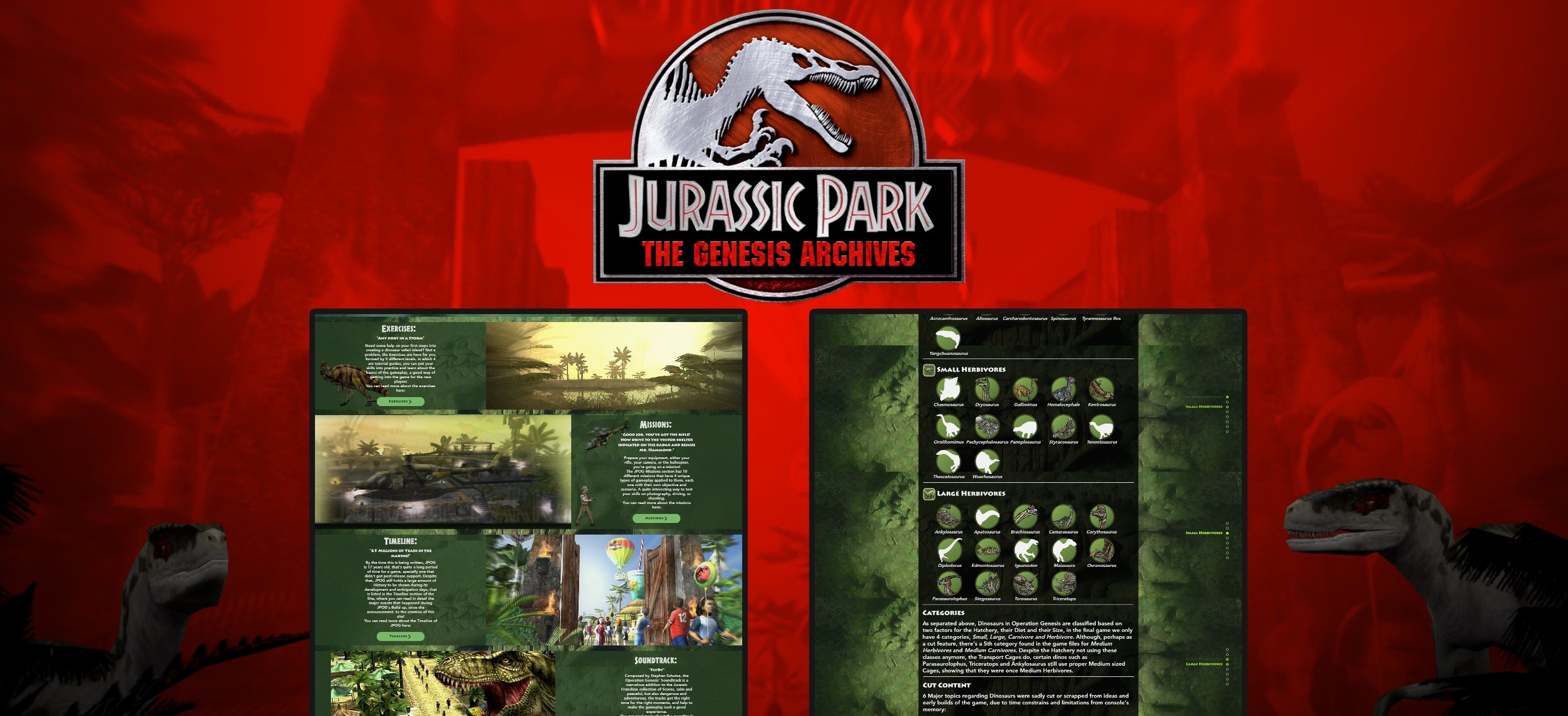Explore 'Jurassic Park: Operation Genesis' Through The Genesis Archives