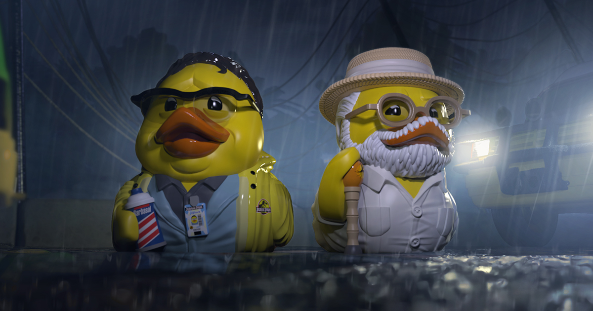 New 'Jurassic Park' Nedry and Hammond TUBBZ Cosplaying Duck Collectibles