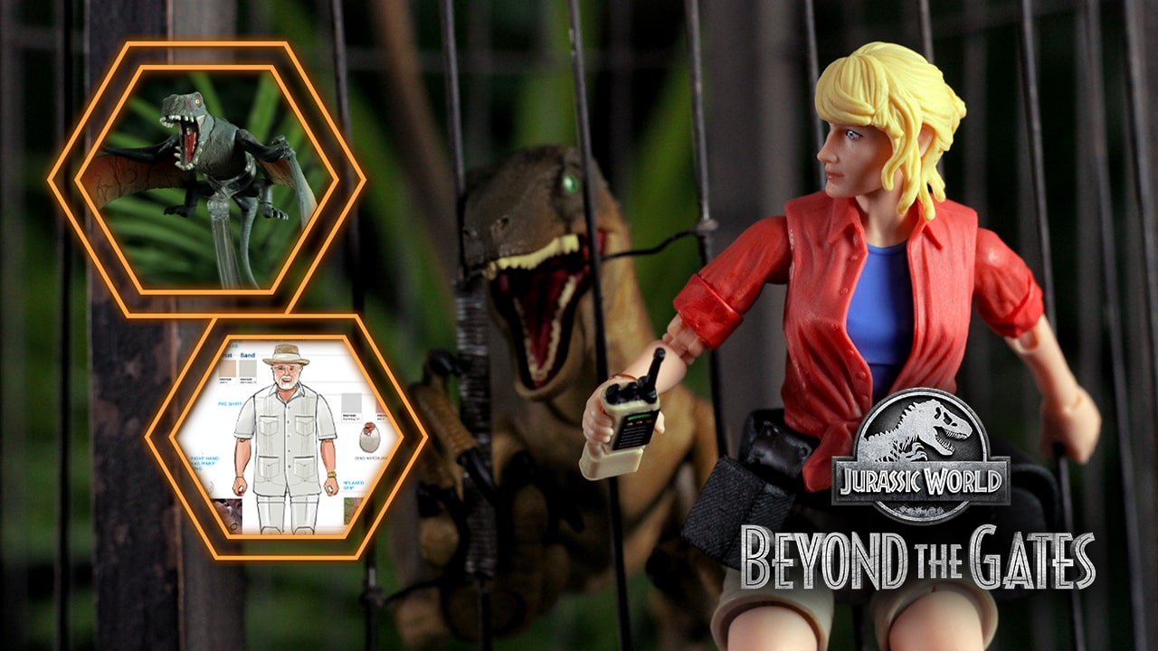 Dr. Ellie Sattler, John Parker Hammond, A Velociraptor and 2 Dimorphodons! New AMBER COLLECTION Figures Debuted in 'Beyond The Gates' Episode 5!
