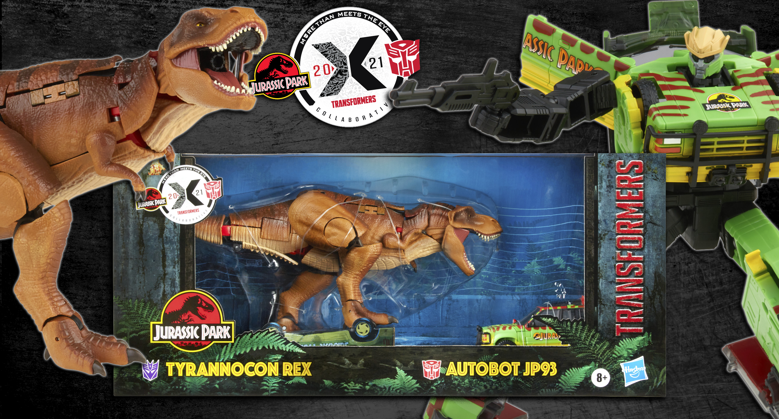 TRANSFORMERS X JURASSIC PARK: 'TYRANNOCON REX' vs 'AUTOBOT JP93' NOW AVAILABLE TO PRE-ORDER!