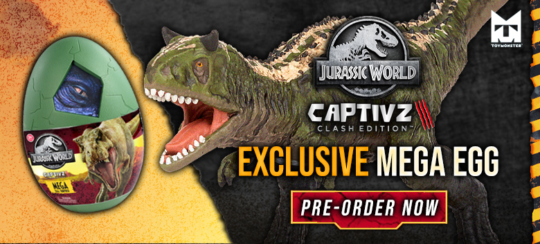 Exclusive Jurassic World CAPTIVZ Clash Edition Mega Egg Available for Pre-order Now!
